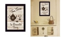 """Trendy Decor 4U Tea Time by Millwork Engineering, Ready to hang Framed Print, Black Frame, 10"""" x 14"""""""