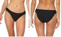 Jessica Simpson Rose Bay Textured Shirred Bikini Bottoms
