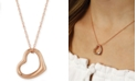 Macy's Open Heart Necklace Set in 14k White, Yellow or Rose Gold