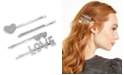 INC International Concepts INC 4-Pc. Silver-Tone Pavé Love Bobby Pin Set, Created for Macy's