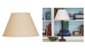 Macy's Cloth&Wire Slant Empire Hardback Lampshade with Washer Fitter