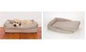 3 Dog Pet Supply Ez Wash Fleece Lounger Memory Foam Dog Bed, Large