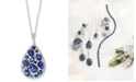 """EFFY Collection EFFY® Sapphire (3-7/8 ct. t.w.) & Diamond (1/4 ct. t.w.) 18"""" Pendant Necklace in 14k White Gold"""
