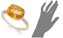 Macy's 14k Gold Ring, Citrine (3 ct. t.w.) and Diamond Accent Oval Ring