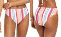 Roxy Juniors' Striped High-Waist Bikini Bottoms