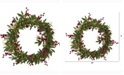 Nearly Natural 20in. Olive with Berries Artificial Wreath