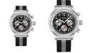 Stuhrling Men's Black - Silver Tone Mesh Stainless Steel Bracelet Watch 42mm