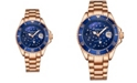 Stuhrling Women's Rose Gold Stainless Steel Bracelet Watch 39mm