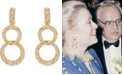 Grace Kelly Collection 18k Gold Plated Bold Link Clip On Earrings