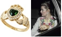 Grace Kelly Collection 18k Gold Plated Claddagh Ring