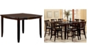 Furniture of America Sharina Solid Wood Square Counter Table