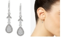 Anne Klein Silver-Tone Crystal Teardrop Drop Earrings