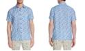 Brooklyn Brigade Men's Slim-Fit Plumeria Short Sleeve Shirt