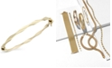 Macy's 10k Gold Bracelet, Twist Bangle