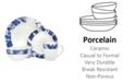 Godinger Tie Dye Blue 16-PC Dinnerware Set