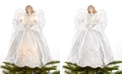 Holiday Lane Light up White Shimmer Angel Tree Topper, Created for Macy's