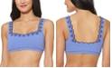 Jessica Simpson Scalloped Textured Bikini Top