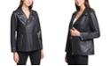 Calvin Klein Faux-Leather Moto Zippered Jacket