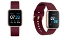 iTouch Women's Air 3 Merlot Silicone Strap Touchscreen Smart Watch 40mm