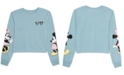 Disney Juniors' Mickey & Minnie Mouse Long-Sleeved Graphic T-Shirt