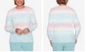 Alfred Dunner Women's Missy St. Moritz Chenille Biadere Sweater