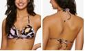 Hula Honey Juniors' Luna Floral Triangle Bikini Top, Created for Macy's