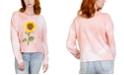 Rebellious One Juniors' Sunflower Tie-Dye Graphic T-Shirt