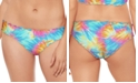 Salt + Cove Tie-Dyed Ruffled Hipster Bikini Bottom, Created for Macy's