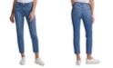 Calvin Klein Jeans High-Rise Raw Hem Ankle Jeans