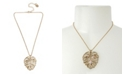Betsey Johnson Leaf Pendant Necklace