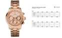 GUESS Women's Rose Gold-Tone Stainless Steel Bracelet Watch 42mm U0330L2