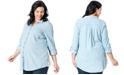 Motherhood Maternity Plus Size Button-Front Blouse