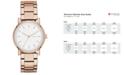 DKNY Women's Soho Rose Gold-Tone Stainless Steel Bracelet Watch 34mm, Created for Macy's