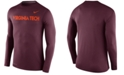 Nike Men's Long-Sleeve Virginia Tech Hokies Stadium Dri-FIT Touch T-Shirt