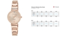 Anne Klein Women's Diamond Accent Rose Gold-Tone Stainless Steel Bracelet Watch 28mm AK-2434RGRG