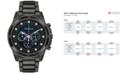 Bulova Men's Chronograph Diamond Accent Dark Gray Stainless Steel Bracelet Watch 44mm 98D133