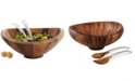 Nambe Nambe Butterfly Salad Bowl with Servers