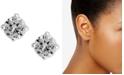 Lauren Ralph Lauren Silver-Tone Cubic Zirconia Stud Earrings