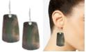 Robert Lee Morris Soho Silver-Tone Mother of Pearl-Look Drop Earrings