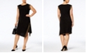 Michael Kors Plus Size Studded Asymmetrical-Hem Dress