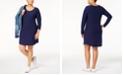 Planet Gold Trendy Plus Size Printed Dress