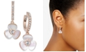 kate spade new york  14k Rose Gold-Plated Pavé & Mother-of-Pearl Flower Drop Earrings
