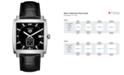 TAG Heuer Men's Swiss Monaco Black Alligator Leather Strap Watch 37x37mm