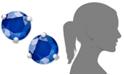 Macy's 14k White Gold Earrings, Sapphire Stud (1-1/10 ct. t.w.)