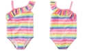 Carter's 1-Pc. Ruffled Rainbow Swimsuit, Little Girls