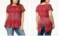 Lucky Brand Plus Size Paisley-Print T-Shirt