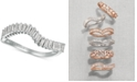 Le Vian Baguette Frenzy™ Diamond Wave Ring (3/8 ct. t.w.) in 14k White Gold