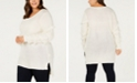 One A Plus Size Fringed-Sleeve Tunic Sweater