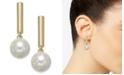 Alfani Bar & Imitation Pearl Drop Earrings, Created for Macy's