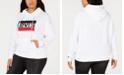 Levi's Trendy Plus Size  Logo Fleece Hoodie